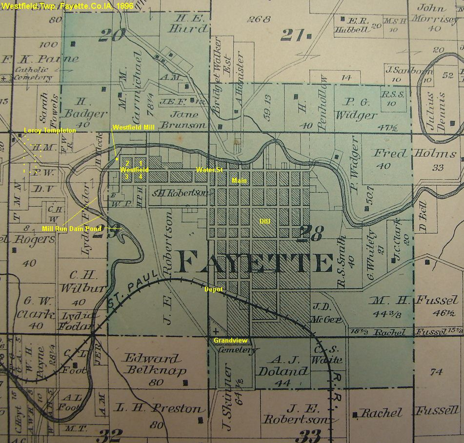 Templeton Iowa Map.Westfield Mill Fayette Ia