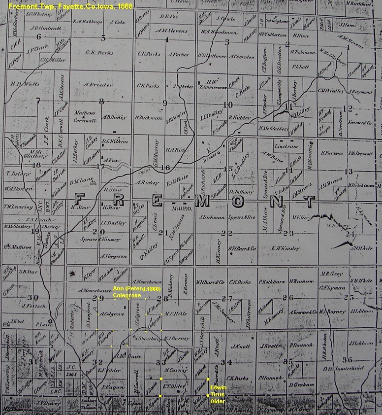 Oelwein Iowa Map.Older Surname Fayette Co Ia